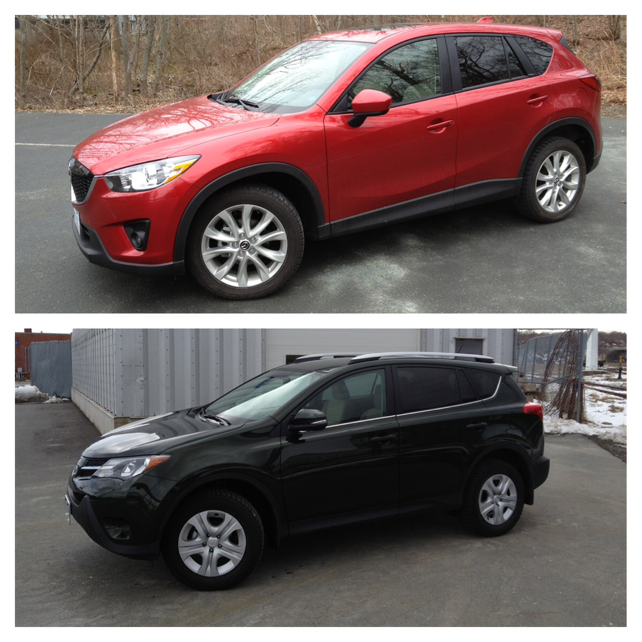 comparo 2014 mazda cx 5 gt skyactiv vs 2013 toyota rav4 le. Black Bedroom Furniture Sets. Home Design Ideas